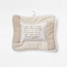 Mini almofada oração patchwork